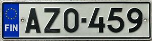 GENUINE-Finland-EU-Stars-License-Licence-Number-Plate-Finnish-Tag-AZO-459