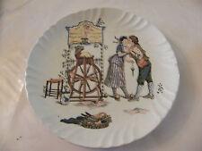 Assiette Froment Richard en Sarreguemines Aux flèches de Cupidon