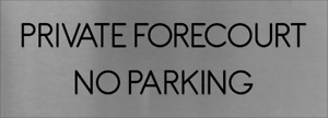 PRIVATE garage stationnement interdit Signe en Aluminium Brossé Mur Porte Plaque