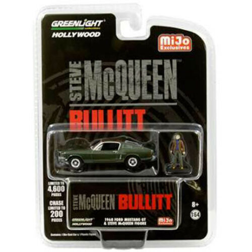 Greenlight 1968 Ford Mustang GT Bullitt w Steve McQueen Figure 1:64 51207