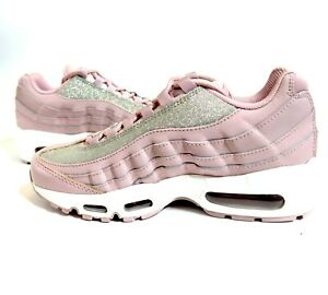 Nike Womens Air Max 95 SE Silver Pink Rose Shimmer Glitter AT0068 ... 3a641057f