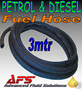 Details about 3M x 3 5mm ID BRAIDED PETROL DIESEL FUEL LINE HOSE PIPE