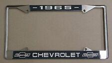 65 1965 Chevy car truck Chrome license plate frame