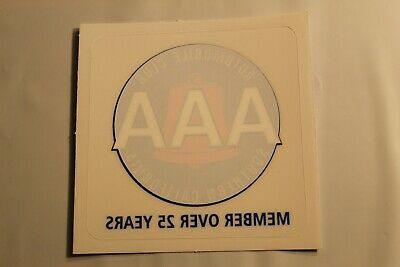 "2/"" X 2/"". AAA Premier Automobile Club non-adhesive Decal Southern California"