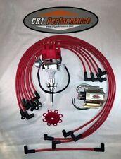 MOPAR 413-426-440 Red SMALL Cap HEI Distributor, 50K COIL + Spark Plug Wires USA