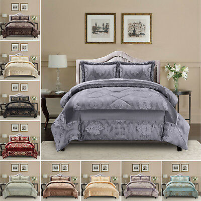 3 Pc QUILTED BEDSPREAD PILLOW SHAM SET IN CREAM DOUBLE,KING,SUPER KING