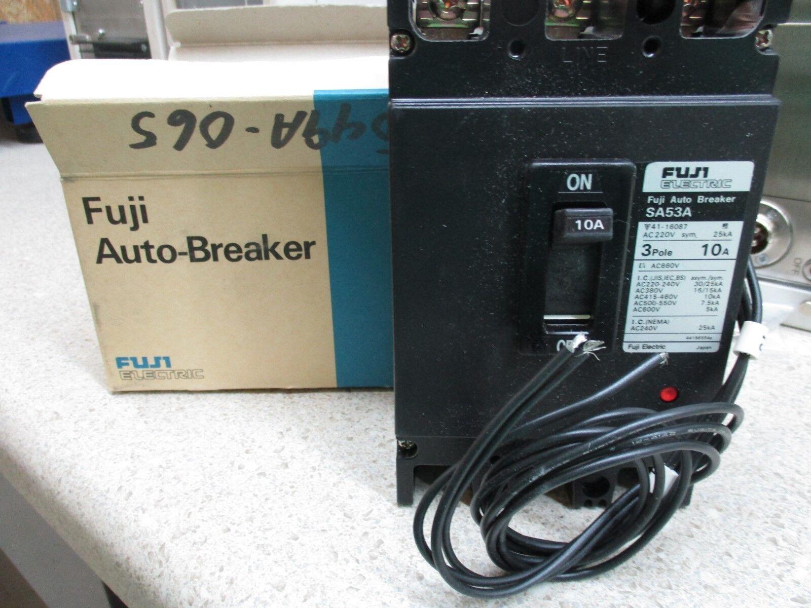 Pleasing Fuji Electric Auto Breaker Sa53A 3P Trips M Nib 10A Nrhfen2379 Wiring Cloud Toolfoxcilixyz