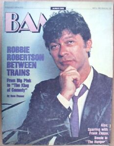 Details about BAM BAY AREA MUSIC MAGAZINE #155 MAY 6, 1983 (FN) ROBBIE  ROBERTSON THE BAND