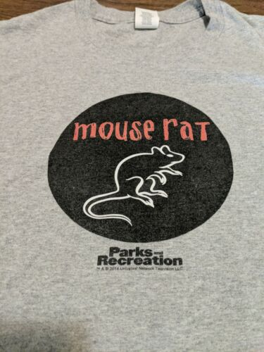 Mouse Rat Parks and Recreation Gray T-shirt XXL Si