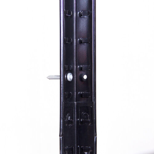 4 Bays Black Metal 5 Tier Garage Shelving Unit Racking Storage 180x90x60cm