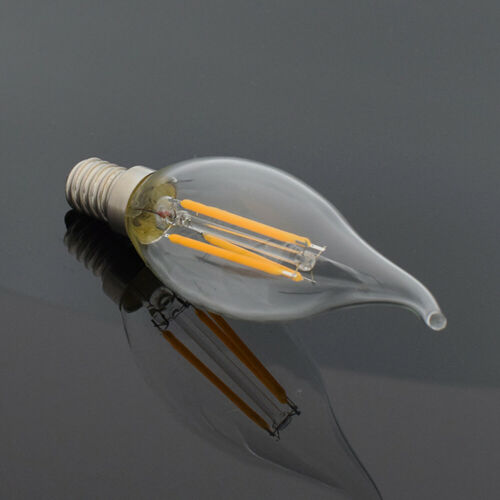 E27 E14 Filament LED Lights COB Vintage Lamps Retro Glass Edison Bulb 4//8//12//16W