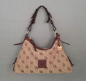 DOONEY & BOURKE Brown/Khaki Signature Canvas Shoulder Bag-Satchel #K5471929 ❤️