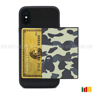 best sneakers 3f22d af697 Details about A BATHING APE BAPE 1ST CAMO 2Types Card Case For Apple iPhone  X 8 7 PLUS 6 6S