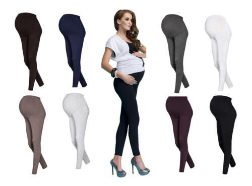 95/% Baumwolle 2 Stück knöchellange Umstandshosen für Schwangere 9 Farben