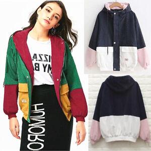Unisex-Color-Block-Bomber-Jacket-Boys-N-Girls-Oversize-Hoody-Corduroy-Wind-Coat
