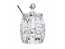 Jam Jar Spoon Vintage Dining Honey Clear Glass Lid Cut Condiment Tableware