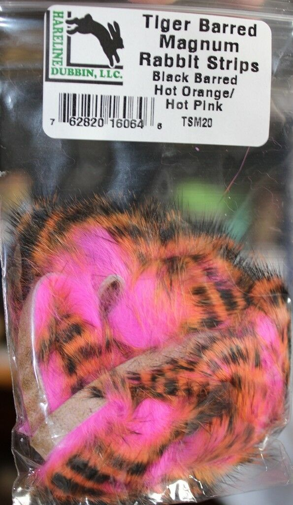 Black /& Hot Orange Rabbit Strips 3mm