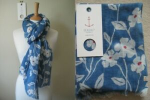 New-Seasalt-Tranquil-Scarf-Linen-Cotton-blend-Wrap-Floral