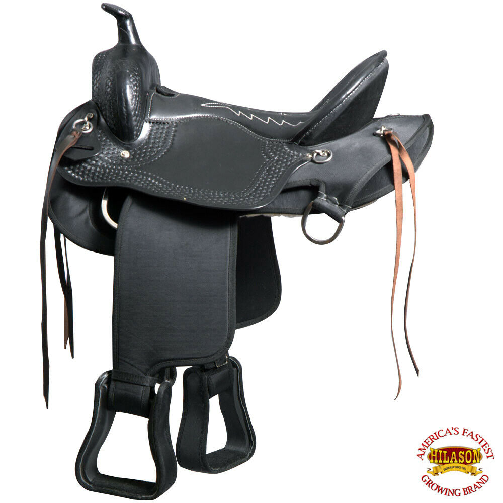 U417 17 In Great American Gaited Western Trail Pleasure Horse Synthetic Saddle