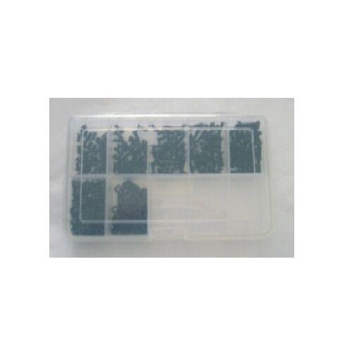 M5 Innensechskantschrauben Set 300 Teile Edelstahl A2 SCHWARZ ISO 7380