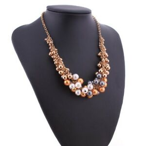 Colorful-Women-Statement-Pearl-Fashion-Chokers-Necklace-Imitation-Pearls