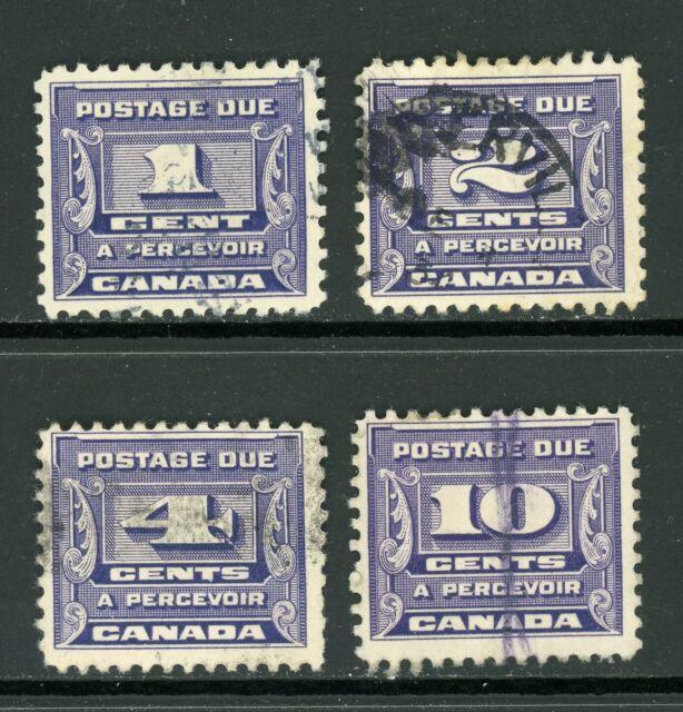 Canada Scott #J11-J14 USED 1933-34 Postage Due SET CV$23+ ISH-1