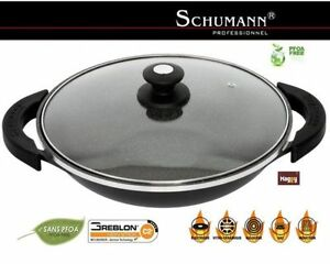 wok schumann pro 32 cm en pierre tous feux induction four. Black Bedroom Furniture Sets. Home Design Ideas