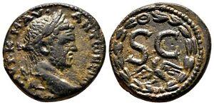 *AET* ANTIOCH (Syria) AE22. Caracalla. EF-. SC - Wreath/Eagle.