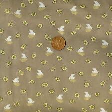 Springs Creative Lotus Light Brown 100% Cotton Fat Quarter
