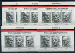 Bund-Block-11-postfrisch-5-Stueck-BRD-871-873-Deutsche-Nobelpreistraeger-MNH