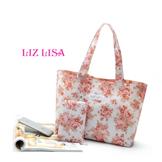 Set of 2-Liz Lisa Reusable Tote Bag & Small Pouch Limited Gift