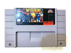 Wolverine-SUPER-NINTENDO-SNES-GAME-Tested-Working-amp-Authentic