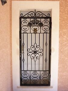 porte grille fer forge hauteur 2 m x largeur 1 m ebay. Black Bedroom Furniture Sets. Home Design Ideas