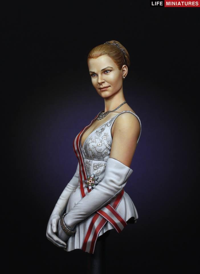 Life Miniatures Princess Grace of Monaco 1 10th Bust Unpainted kit