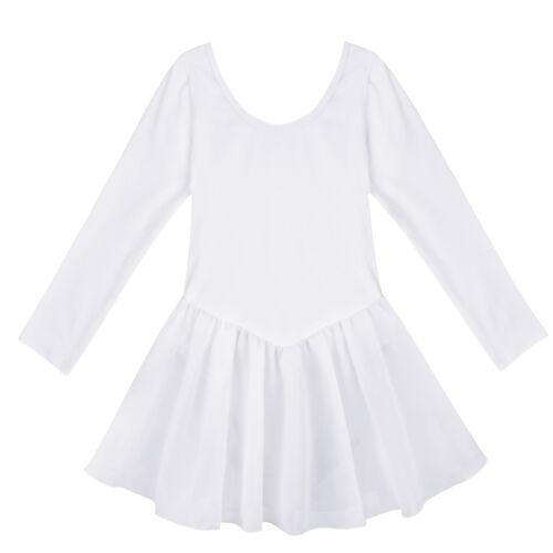 Kid Girls Ballet Dance Dress Gymnastics Leotard Tutu Skirt Dancewear Costume