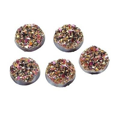 12mm 50pcs Drusy Resin Dome Seals Cabochon Round DIY Jewelries