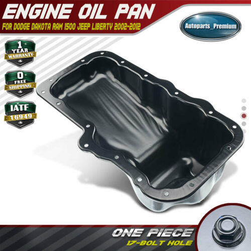 Engine Oil Pan for Dodge Dakota Durango Nitro 07-12 Ram 1500  Jeep Liberty 02-12