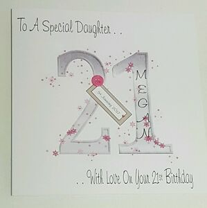 Image Is Loading Large Personalised 21st Birthday Card Daughter Goddaughter Niece