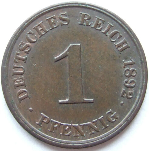 TOP! 1 Pfennig 1892 J in BRILLIANT UNCIRCULATED VERY RARE