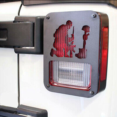 2x Taillight Cover Guard Lamps Protector Fallen Soldier