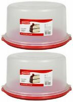 (2) Ea Rubbermaid 1777191 Servin' Saver Cake Storage Containers