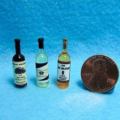 13Pcs//set 1:12 Dollhouse Miniature Wine Bottles Cup Holder Dollhouse Access S*