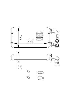 318 ti E36 Wärmetauscher Heizungskühler Innenraumheizung BMW 3 Compact