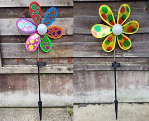 Solar-Powered-Light-Up-Windmill-Holographic-Outdoor-Garden-Multicoloured-Decor