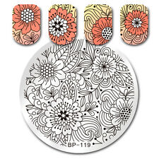 BORN PRETTY Bloom Flower Leaf Stamping Template Nail Art Image Plate BP-119