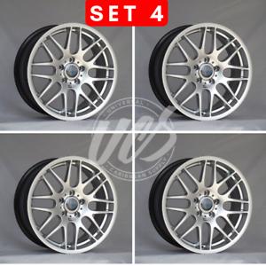 """NEW 18"""" SILVER CSL M3 WHEELS RIMS FITS BMW E36 E46 E90 E92 ..."""