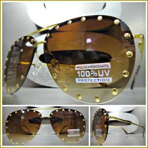 9ff97246f Image is loading Oversized-Vintage-Retro-Designer-Style-SUN-GLASSES-Gold-