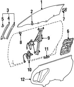 Genuine Toyota Supra Right Door Service Hole Access Cover 67831-14240