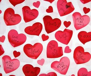 Download Love is all Around Valentine's Fabric Hearts and Sayings ...