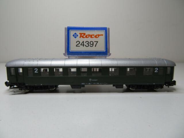 Roco N 24397 Eilzugwagen 2 Klasse dunkelgrün ÖBB 213N //20 Top in OVP